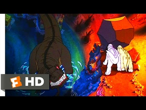 The Land Before Time (9/10) Movie CLIP - Petrie Saves His Friends From Sharptooth (1988) HD