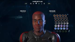 A look at the Character Customization in Mass Effect for the Female and Male. The Character Creation is very limited in terms of preset deviation. Add all the color you want to a face its still the same face. You be the judge, but it is highly reminiscent of Destiny's limited creation options.
