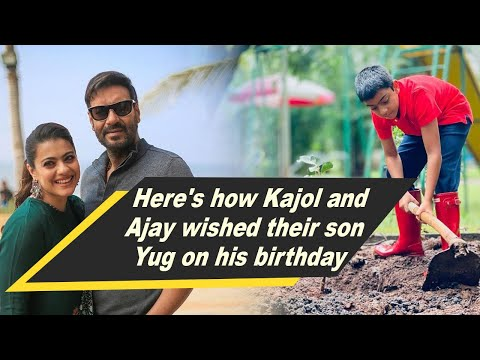 Here's how Kajol and Ajay wished their son Yug on his birthday