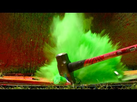 The Slow Mo Guys Exploding Paint Cans in Slow