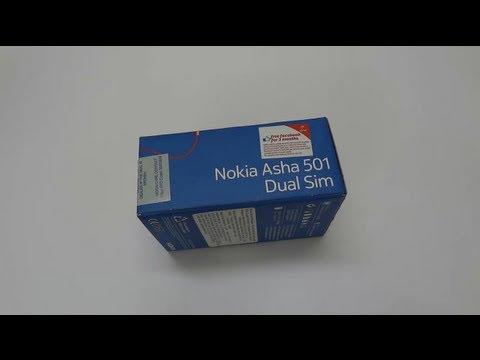 Nokia Asha 501 Dual Sim Unboxing