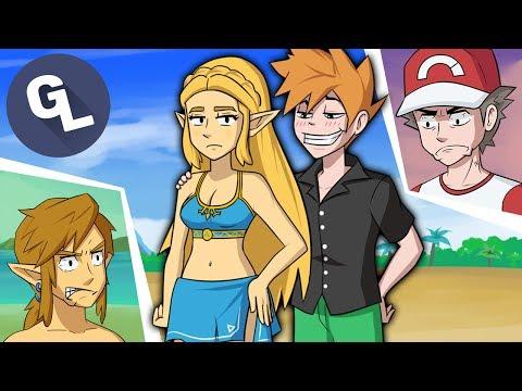 Red n' Blue meet Link n' Zelda
