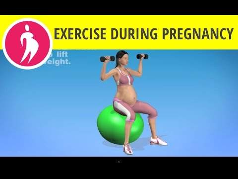 Pregnancy Exercise at Home with Dumbbells and Fitness Ball for Upper Body