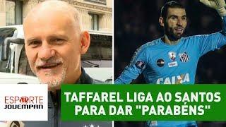 Goleiro Vanderlei, do Santos, teve grande atuação no jogo contra o Atlético-MG, em Belo Horizonte. Ele foi parabenizado por...