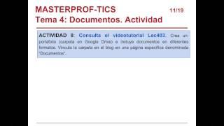 Umh0460 2013-14 Lec400 Tema 4  Ofimática Y Colaboración Online. Google Drive. Mapas Conceptuales