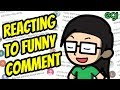 foto Reacting To Funny Comment