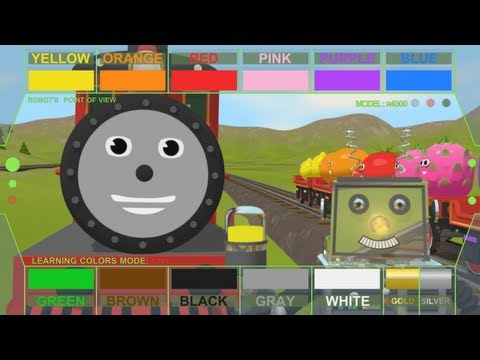 Train - This educational cartoon teaches your child 13 different colors in a fun way (Main colors are repeated 3 times in a fun, different way). Robot that likes to ...