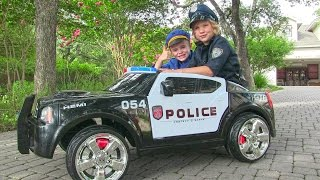 Video Ride On Police Car for Kids - Unboxing, Review and Riding Dodge Charger MP3, 3GP, MP4, WEBM, AVI, FLV Juli 2018