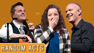 Video Girl Without A Hand Plays on Stage with The Piano Guys - Random Acts MP3, 3GP, MP4, WEBM, AVI, FLV Agustus 2019