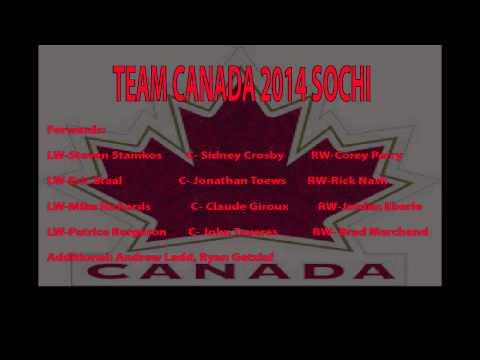 Team Canada 2014 oylmpics