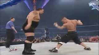 Kurt Angle Vs. Big Show Vs. John Cena   No Way Out 2004