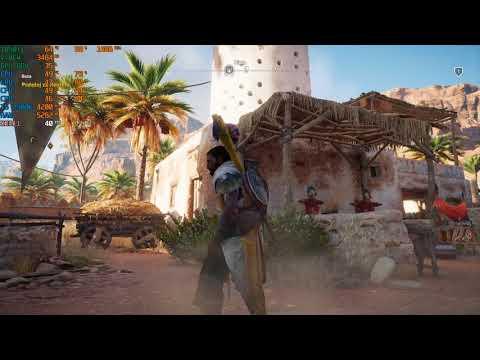Assassin's Creed  Origins gameplay i5 2500k gtx 1050ti 1080p V.High