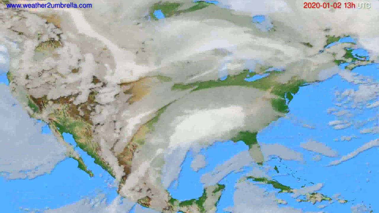 Cloud forecast USA & Canada // modelrun: 12h UTC 2020-01-01