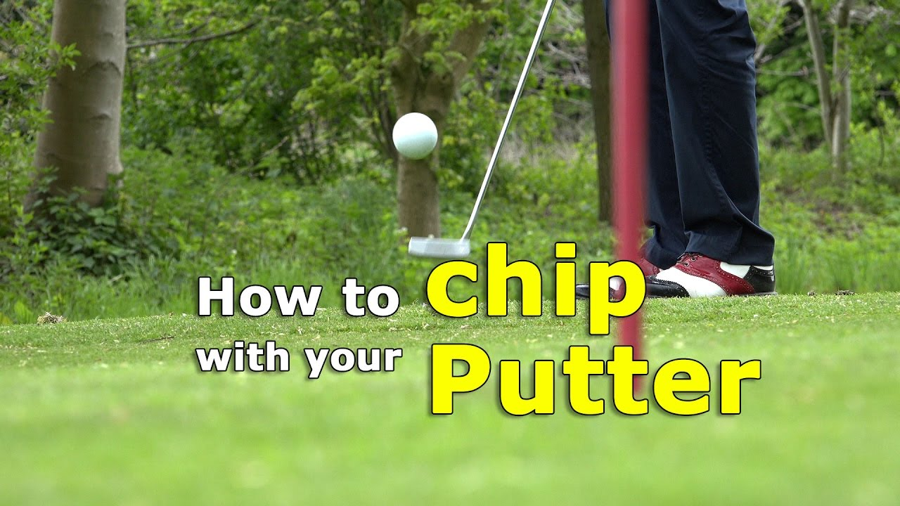How to chip with your putter - chip from a difficult lie