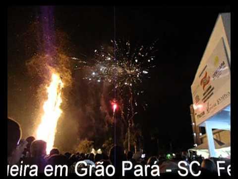 Queima da Fogueira na Festa de São João Batista Grão Pará 2012.avi