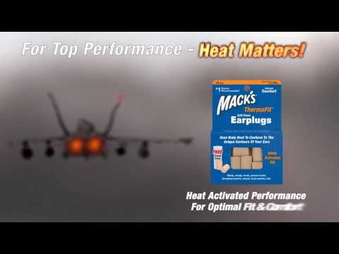 Heat Activated Ear Plugs Mack's® ThermaFit™1