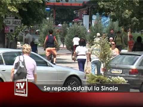Se repară asfaltul la Sinaia