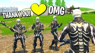 I gifted my whole Fortnite clan the Skull Trooper skin...