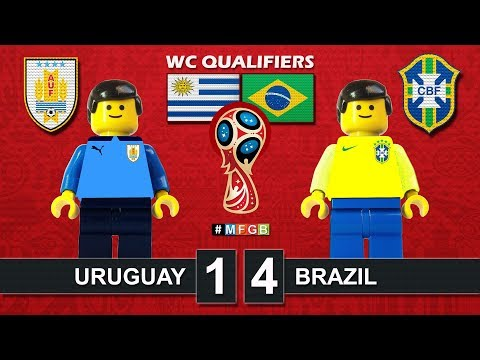 Uruguay vs Brazil 1-4 • World Cup Russia 2018 Qualifiers (24/03/2017) goal Lego Football CBF