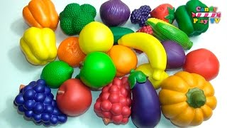 Learn Names of Fruits and Vegetables With Toy | Kids learning fruits vegetables | Preschool Learning