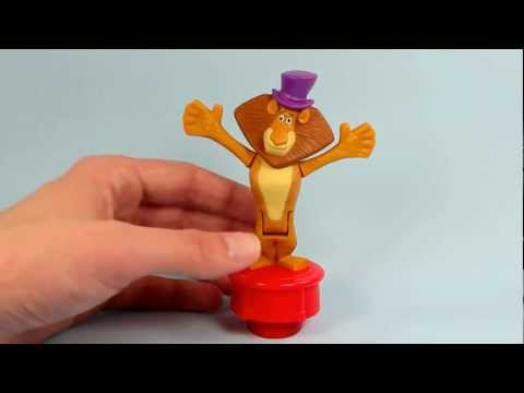 Madagascar 3 McDonalds Happy Meal Toys 2012 Complete Set of 6 Review