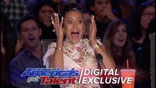 OH MY GOD! Catch Mel's best reactions from season 12 of AGT! » Get The America's Got Talent App: ...