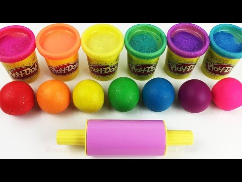 Learn Colors with Play Doh Balls and Cookie Molds Fun  Creative for Kids