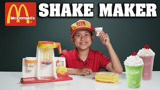 McDonald's SHAKE MAKER!!! Cooking with Evan - Vintage Toy Review!