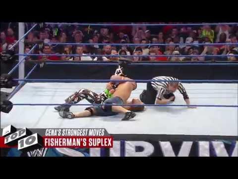John Cena's Strongest Moves: WWE Top 10 (видео)