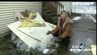 A Medical Lake family found themselves trapped inside their apartment on East Percival Street Saturday night after the ceiling collapsed on top of them. KXLY...