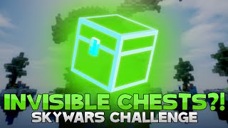 THE INVISIBLE CHEST CHALLENGE + FINDING A GHOST?! ( Hypixel Skywars )