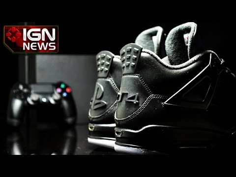 air - A sneaker designer has unveiled the JRDN 4 X PS4, a pair of customised Air Jordan sneakers with design influences from Sony's PlayStation 4.
