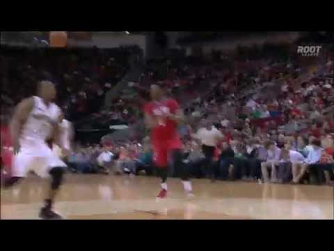 Rockets perfect fast break - ball doesn't hit the floor