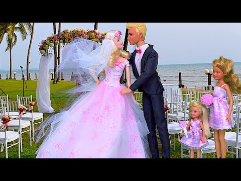 Barbie Wedding Party! 🎀 Play Barbie Doll Dress up and Hairstyling Toys!