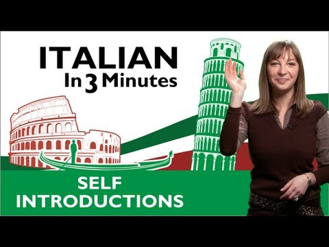 Sich vorstellen auf Italienisch