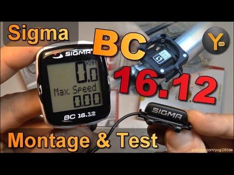 Montage & Einrichtung: Sigma BC 16.12 Fahrrad Computer / Tachometer mit 16 Funktionen