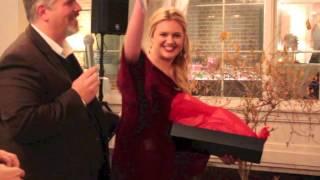 Kelsea Ballerini Unwraps Record Deal at Black River Entertainment Christmas Party.