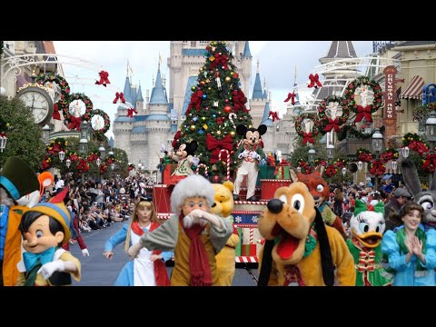 Mickey's Once Upon A Christmastime Parade 4K FULL SHOW Daytime Magic Kingdom Walt Disney World 2019