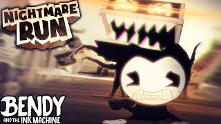 BENDY ON PHONE & ALPHA ENDING!! | Bendy and the Ink Machine [Nightmare Run] Pre-Alpha Gameplay