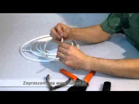 Zagniatanie końcówki kabla BNC - instruktaż NAPAD.PL