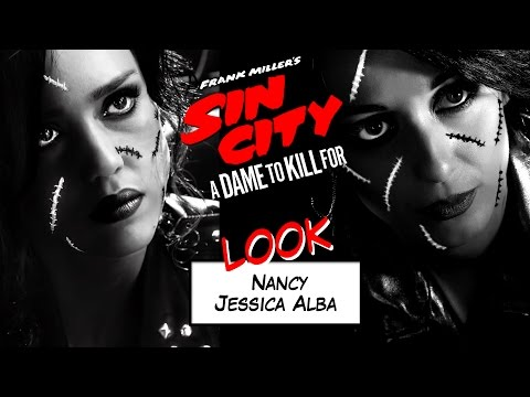 0 Maquillage Jessica Alba : Nancy // Sin city 2 + Making Of du tournage !  yeux charbonneux soirée déguisée nancy Sin City 2 maquillage nancy sin city maquillage jessica alba maquillage halloween maquillage cicatrices look jessica alba
