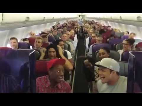 Australian cast of Lion King break out in song! This would make sitting on the tarmac so much better.