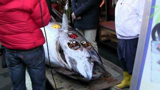 Winning bidder Kiyoshi Kimura, new owner of the Worlds Most Expensive Sushi Blue Fin Tuna ID-2554