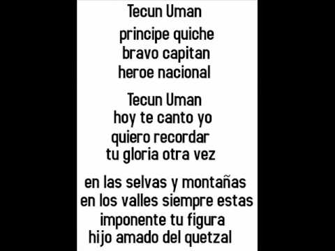 TECUN UMAN  MUSICA Y LETRA