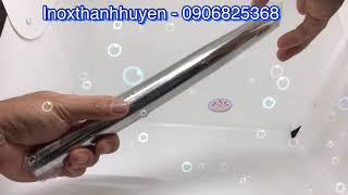 Cây lăn bột inox 316 cao cấp của Aige Hàn Quốc sáng bóng an toàn vệ sinh thực phẩm