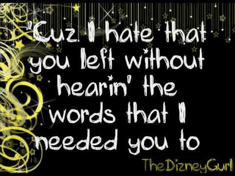 Miley Cyrus-I Hope You Find It lyrics (Full HQ Studio Version)