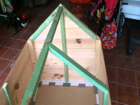 V deo c mo hacer una caseta para perro con palets bricolaje - Como hacer una casa para perro grande ...