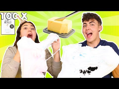 100 LAYERS OF DAISO CLAY IN SLIME  MEGA GIANT SUPER SIZED BUTTER SLIME  Slimeatory 291
