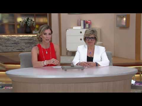 Judith Ripka Sterling Silver 2.80 cttw. Garnet Solitaire Ring on QVC