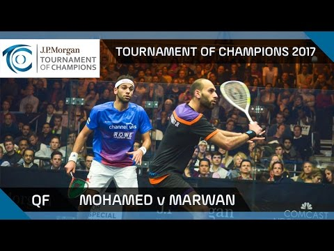 Squash: Mo. ElShorbagy v Ma. ElShorbagy - Tournament of Champions 2017 QF Highlights